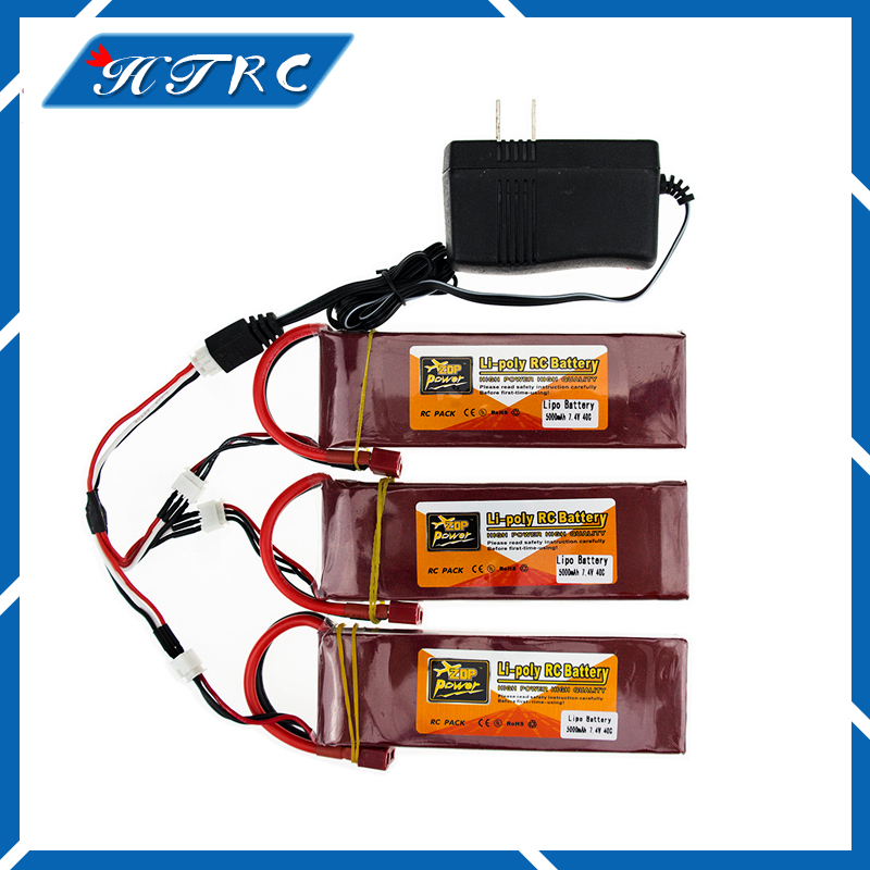3X RC Drone Batteria 5000mah Lipo 7.4 V 40C XT60 T Plug With Fast Charger 3in1 Cable Set 7.4v For RC Quadcopter Helicopters lipo battery 7 4v 2700mah 10c 5pcs batteies with cable for charger hubsan h501s h501c x4 rc quadcopter airplane drone spare