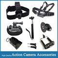 Gopro Accessories Monopod Adapter Go pro hero 4 Chest Harness Head Strap Clip Hand Mount Black Edition For SJCAM SJ4000 EKEN H9