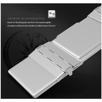 portable aluminum B.O.W  Portable Folding Bluetooth Keyboard, Pocket size  Folded Aluminum Wireless Mini Keyboard Case for Tablet/iPad /iPhone (2)