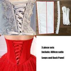 Красивый атласный корсет со шнуровкой сзади на молнии, сменный свадебный наряд, веревка, импортная 395 атласная ткань