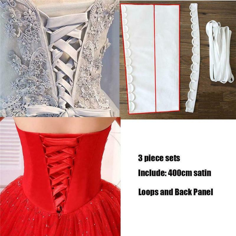 Dress Cord Back Silks And Lace Up Beautiful Satin Corset Kit Zipper Replacement Wedding Gown Rope Imported 395 Satin Fabrics
