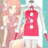 Anime japonés caliente de cosplay vocaloid hatsune miku cos de halloween fiesta de navidad chicas sexy sweet christmas dress set