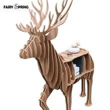DIY Animal mascot shelf bookcase exclusive wooden ornaments home decorations Nordic European hotel restaurant home decor