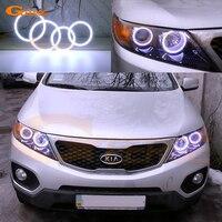 For Kia Sorento 2010 2011 2012 2013 Excellent angel eyes Ultra bright illumination COB led angel eyes kit halo rings