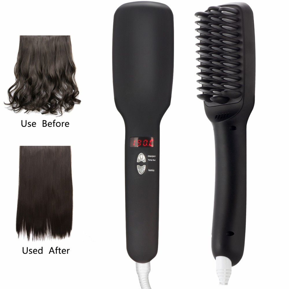 RUCHA Ionic Hair Straightening Brush with Ceramic Tourmaline Electric Hair Straighteners Brush Flat Iron 24v 10 ah 6s5p 18650 battery lithium battery 24 v electric bicycle moped electric lithium ion battery pack free shopping