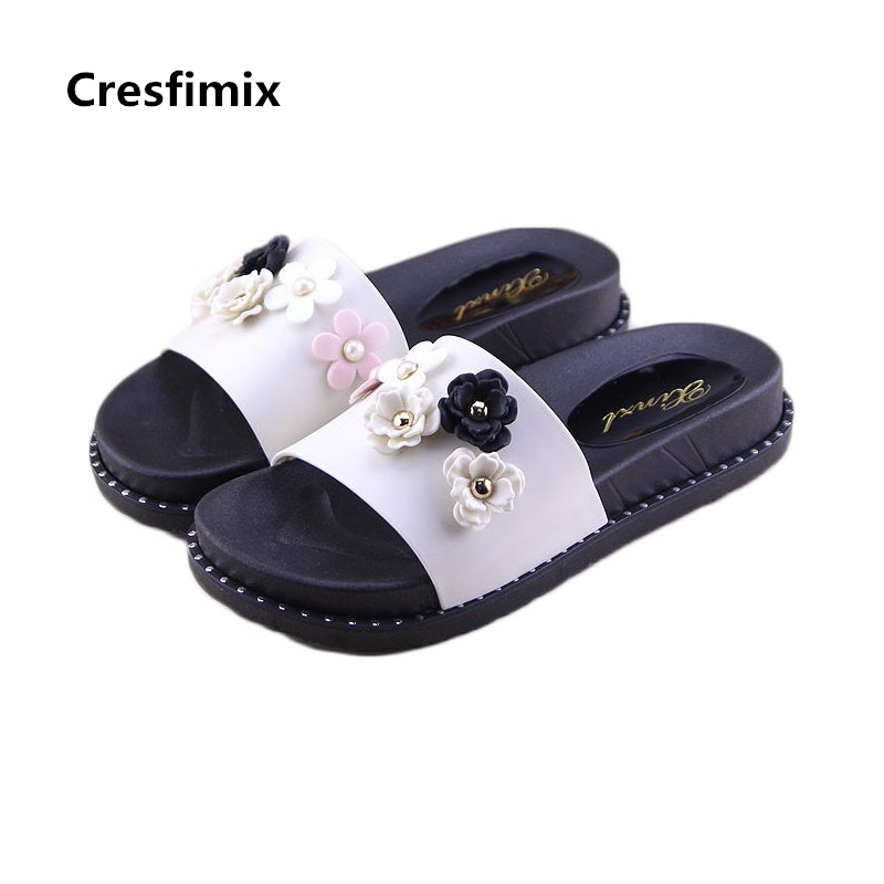 Cresfimix women cute 7cm high heel slippers lady casual indoor and outdoor slippers female spring and summer slip on slides cresfimix women spring