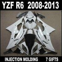 NEW HOT white black bodywork for YAMAHA R6 08 09 10 11 12 13 fairings YZF R6 2008 2009 2013 fairing kit SED54+lowest price