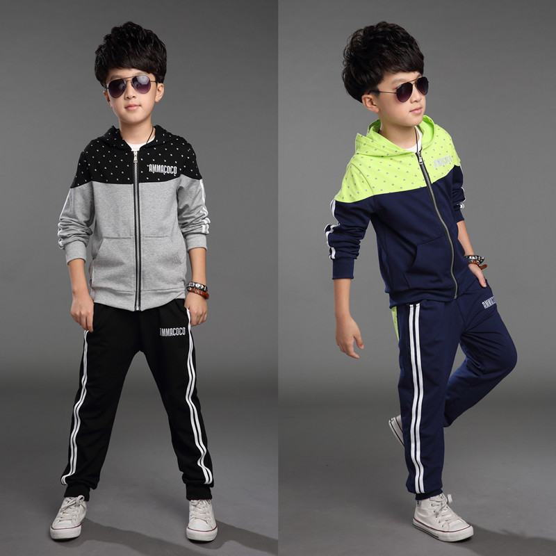 Mickey Kids Clothes 2015 Autumn New Children's Clothing Boys Suit Children Long-sleeved Sports Big Virgin Korean Sweater Piece