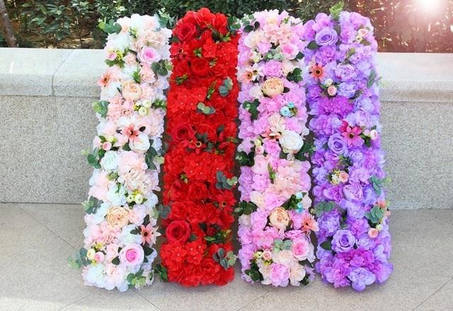 Artificial silk flower wedding props t stage road lead long table artificial silk flower wedding props t stage road lead long table flower centerpieces wedding arch mightylinksfo