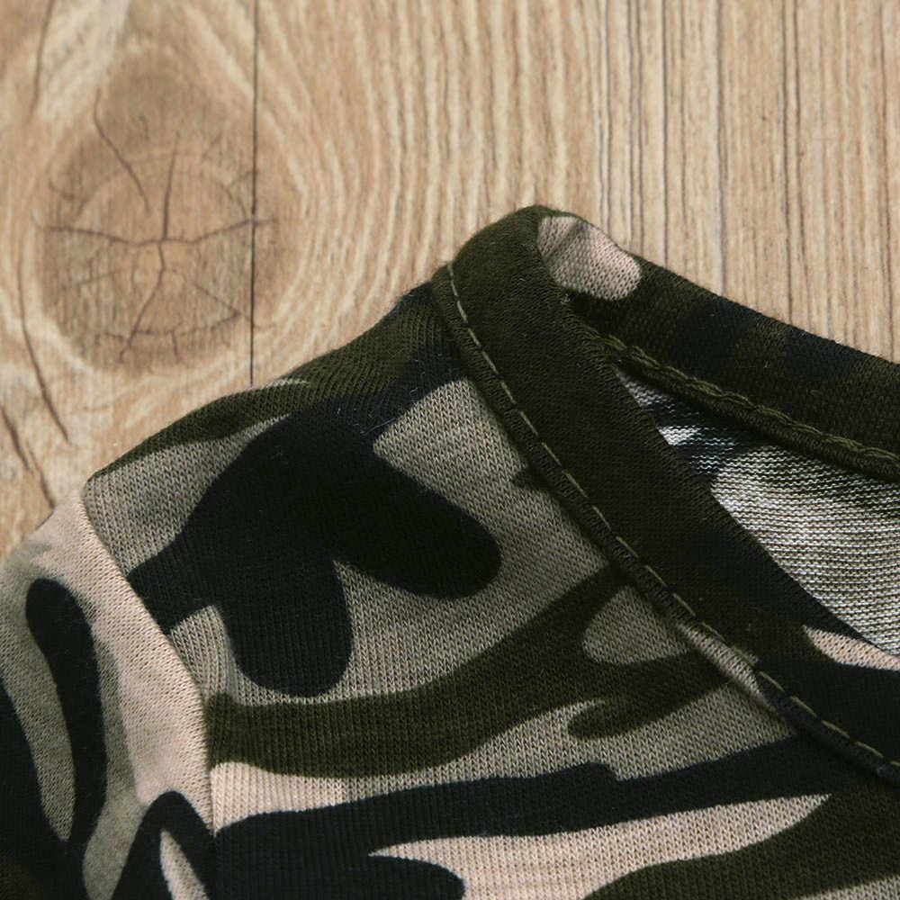 Zomer Leuke Kinderen Peuter Kind Baby Jongens Kleding Camouflage O-hals Korte Mouw t-shirt Tops + Shorts Outfits Kleding Set