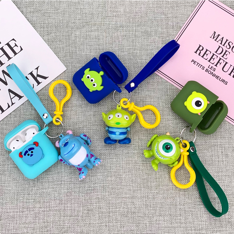 Cute Cartoon Decorative Silicone Case for Apple Airpods Cover Bluetooth Earphone Accessories Air pods Protective Cover