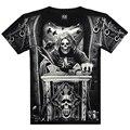 T рубашка мужчины 3D лето стиль 3D T рубашка 100% хлопок свободного покроя Tshirt мужчины одежда узор кость смерть хип-хоп рубашка мужчины 117
