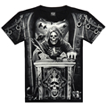 T shirt men 3D Summer style 3D T shirt 100% Cotton casual Tshirt Men clothes Pattern Bone death 2015 Hot hip hop t shirt men 117