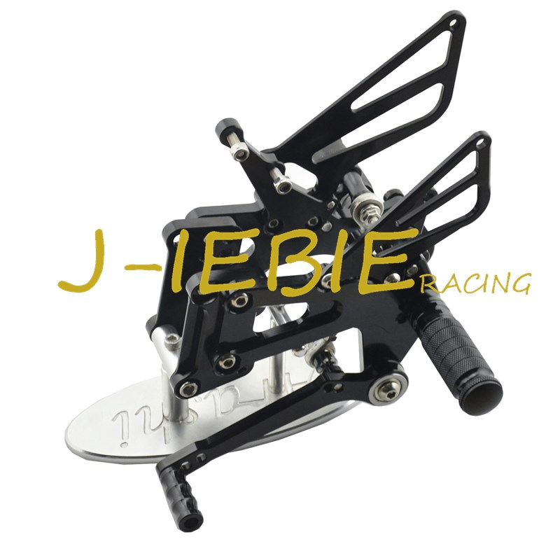 CNC Racing Rearset Adjustable Rear Sets Foot pegs Fit For BMW S1000RR 2009 2010 2011 2012 2013 2014 BLACK titanium cnc aluminum racing adjustable rearset foot pegs rear sets for yamaha mt 07 fz 07 mt07 fz07 2013 2014 2015 2016