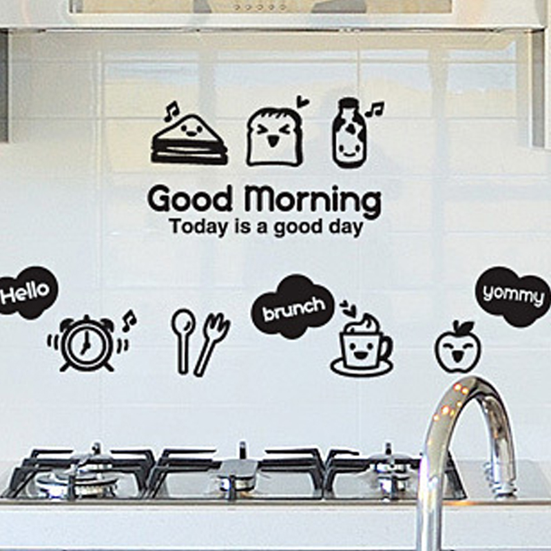 Kitchen wall sticker diy home decor wall art cabinet for Best brand of paint for kitchen cabinets with picture wall art stickers