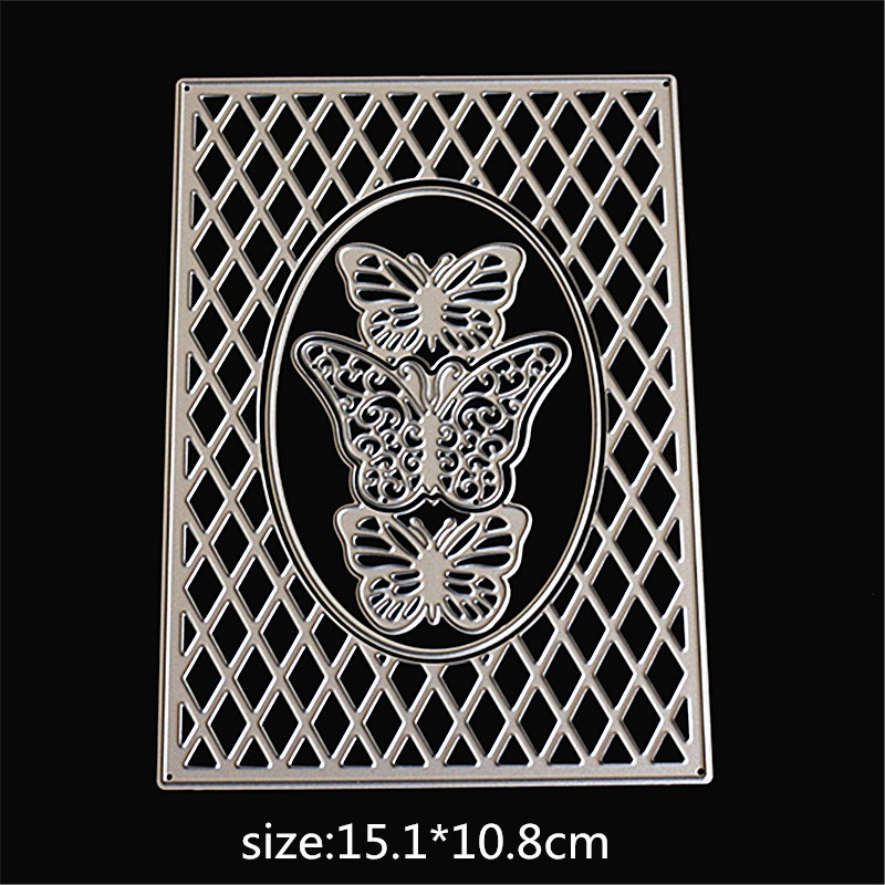 AZSG Butterfly Border Metal Cutting Dies for DIY Scrapbooking Photo Album Decoretive DIY Paper Card Embossing Stencial in Cutting Dies from Home Garden