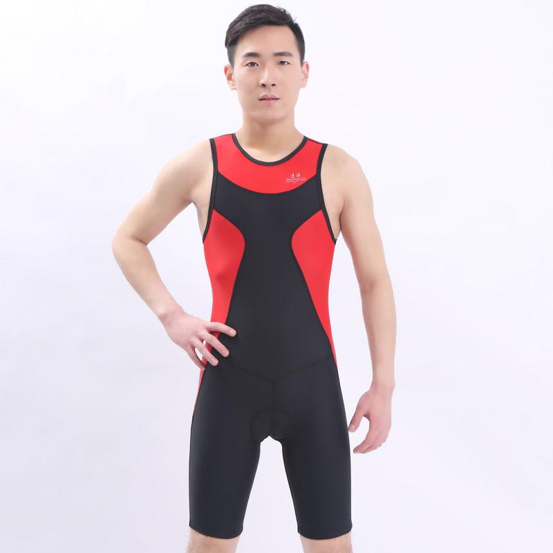 Профессиональный плавательные женщины колено купальник спортивные состязания плотно полный тело купальный костюм