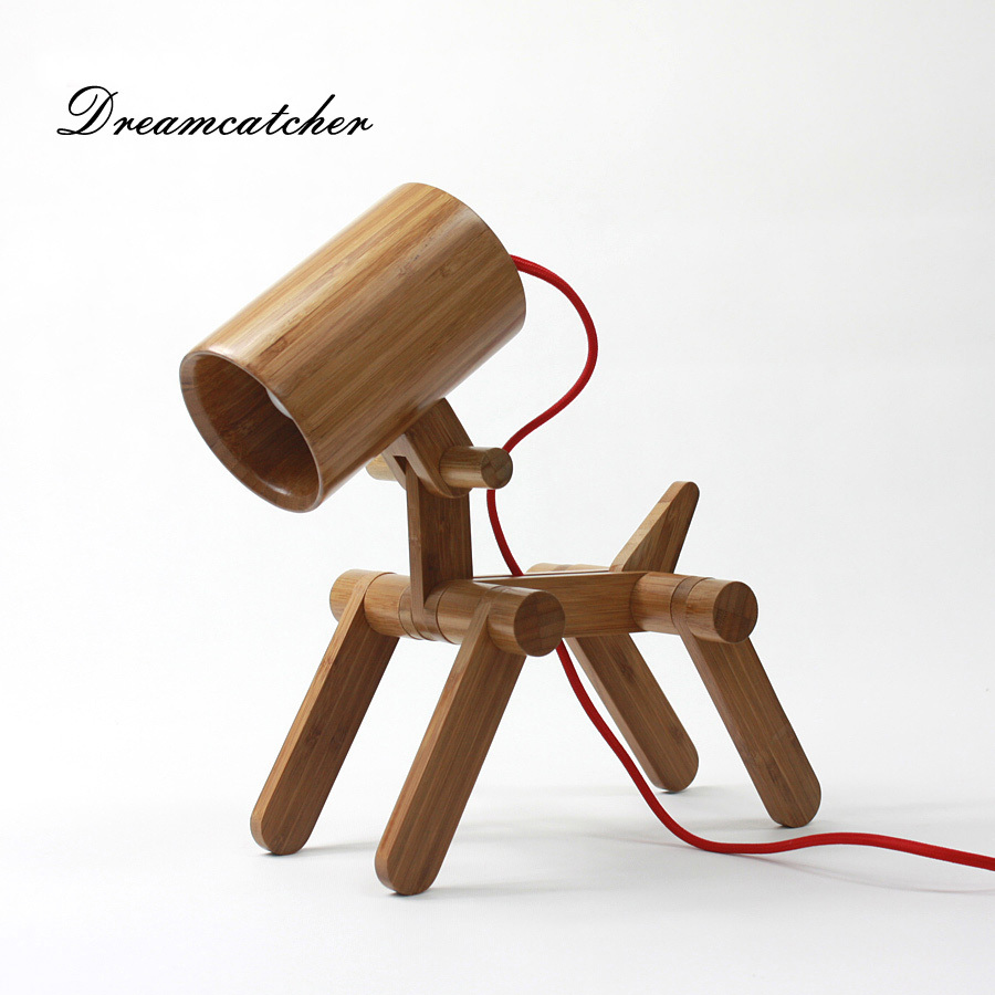 Creative Design Geekcook Diy Environmental Cult Gog Bamboo Desk Lamp Hand Made Arts With Eyecare Led Energy Saving Bulb In Table Lamps From Lights