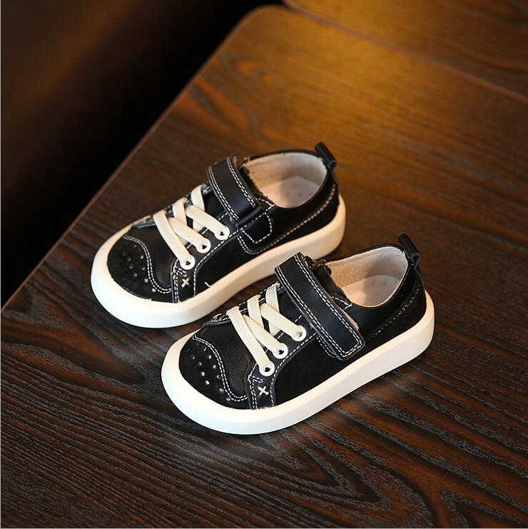 ФОТО 2016Fashion design 3colors low cut flat kids boys shoes children casual shoes all seasons sneaker shoes for boys genuine leather