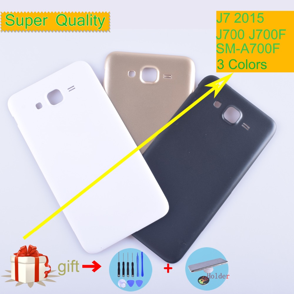 Original For <font><b>Samsung</b></font> Galaxy J7 2015 J700 J700F <font><b>J700H</b></font> J700M <font><b>SM</b></font>-J700F Housing Battery Cover Back Cover Case Rear Door Replacement image