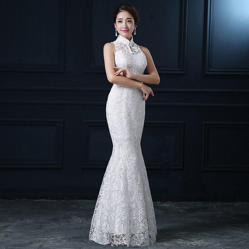 6a3628efc4 NOBLE WEISS con cuello en V vestido de noche 2019 Sexy abalorios de cristal  de división