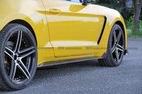 Для Ford 2015 Mustang GT350R карбоновая боковая юбка удлинение автостайлинг
