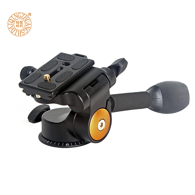 F16927 Q08 Aluminum DSLR Camera Handle Tripod Ball Head Rocker Arm Q-08 3-Way 3D Damping Monopod Tripod Quick Release Plate PTZ