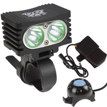 цены SecurityIng Waterproof 1200LM 2 x XM-L T6 Rectangle Bicycle Light + 4000mAh Battery Pack