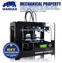 Wanhao Дубликатор 4-образцы нескольких формы, protypling 3D принтер, печатная машина