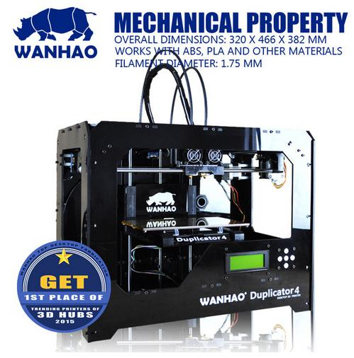 Wanhao duplicadora 4-multi-shape muestras que, protypling 3d impresora máquina d