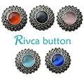 5 cores 6 pçs/lote D00635 OEM, odm rivca botão snap botão de strass botão snap pulseira