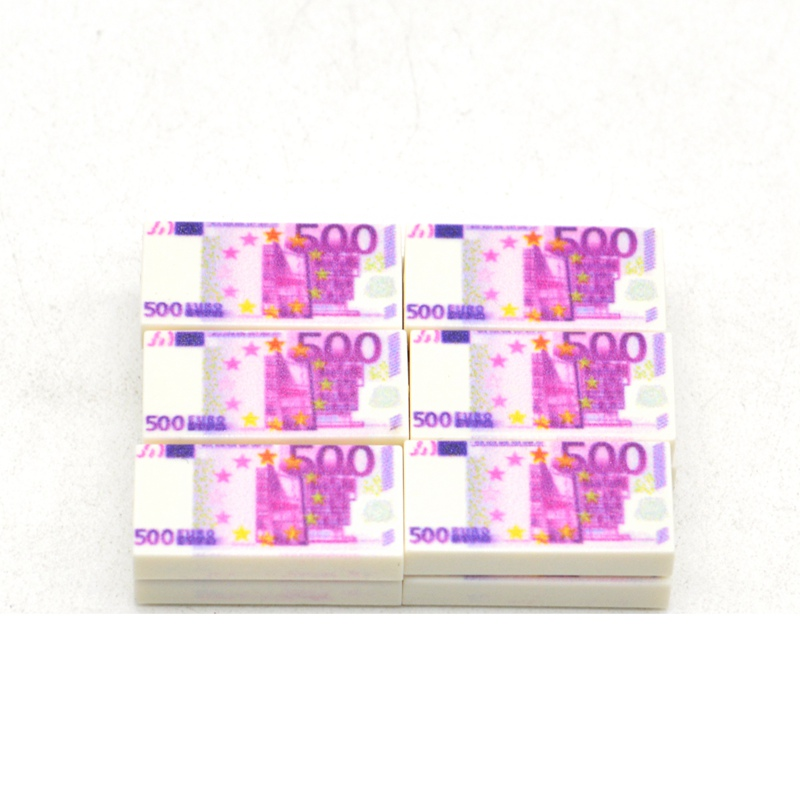 Image 4 - 10pcs/lot 1*2 Bricks US Europe Tiles Money Paper Banknote 100 Dollars EUR 500 MOC Building Blocks Toys for Children-in Blocks from Toys & Hobbies