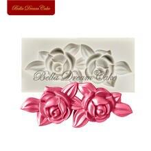 Маленькая силиконовая форма в виде цветка розы sugarcraft для