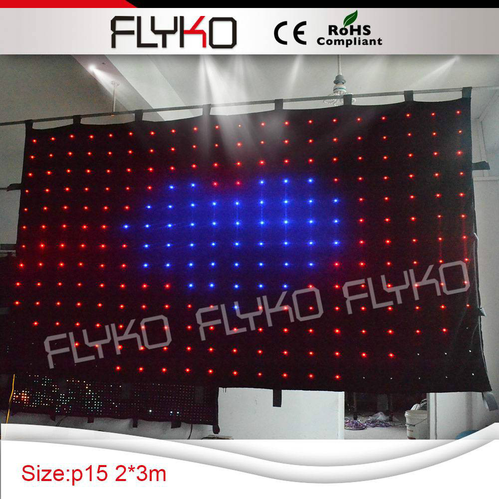 3x2m Free shipping LED curtain lights automatic display animation, foorproof,240pcs LED , for DJ, festival, Party