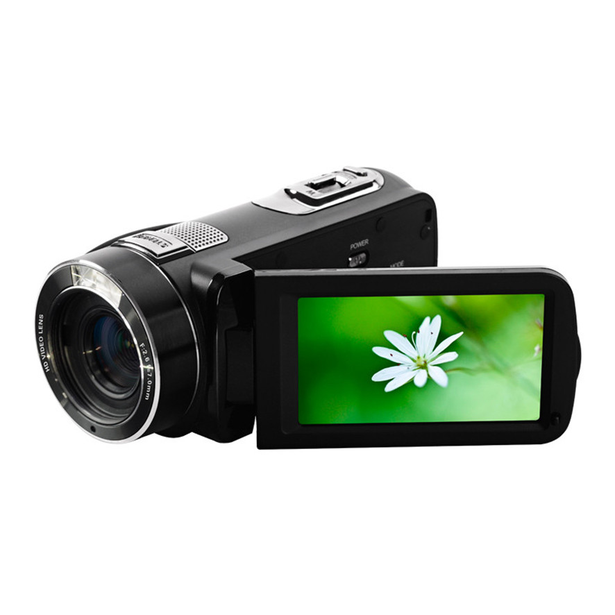 2017 Ordro HDV -Z8 HD Digital 24 Mega Pixel Video Camera Camcorder 16x Digital Zoom with Digital Rotation LCD Touch Screen winait electronic image stabilization hdv z8 digital video camera with recording function touch screen
