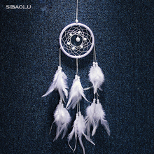 wind chimes hanging decorations dream catcher white feather decor nordic style kids decoration
