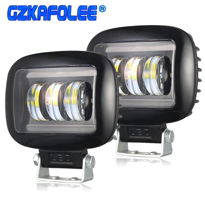 2PCS 36W led bar Leds car headlight Fog light for auto off road 4x4 for jeep SUV motorcycles Truck Pickup Wagon UTB(China)