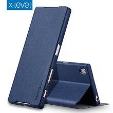 X-уровень Марка FIB серии искусственная кожа флип чехол Подставка для Sony Xperia Z5/для Xperia Z5 Качество Премиум ультра-тонкие чехлы