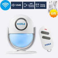 KERUI 125dB WP6 PIR Motion Alarm Door Bell Home Security APP Control Burglar Sensor Detector Welcome Doorbell SOS Alarm Systems
