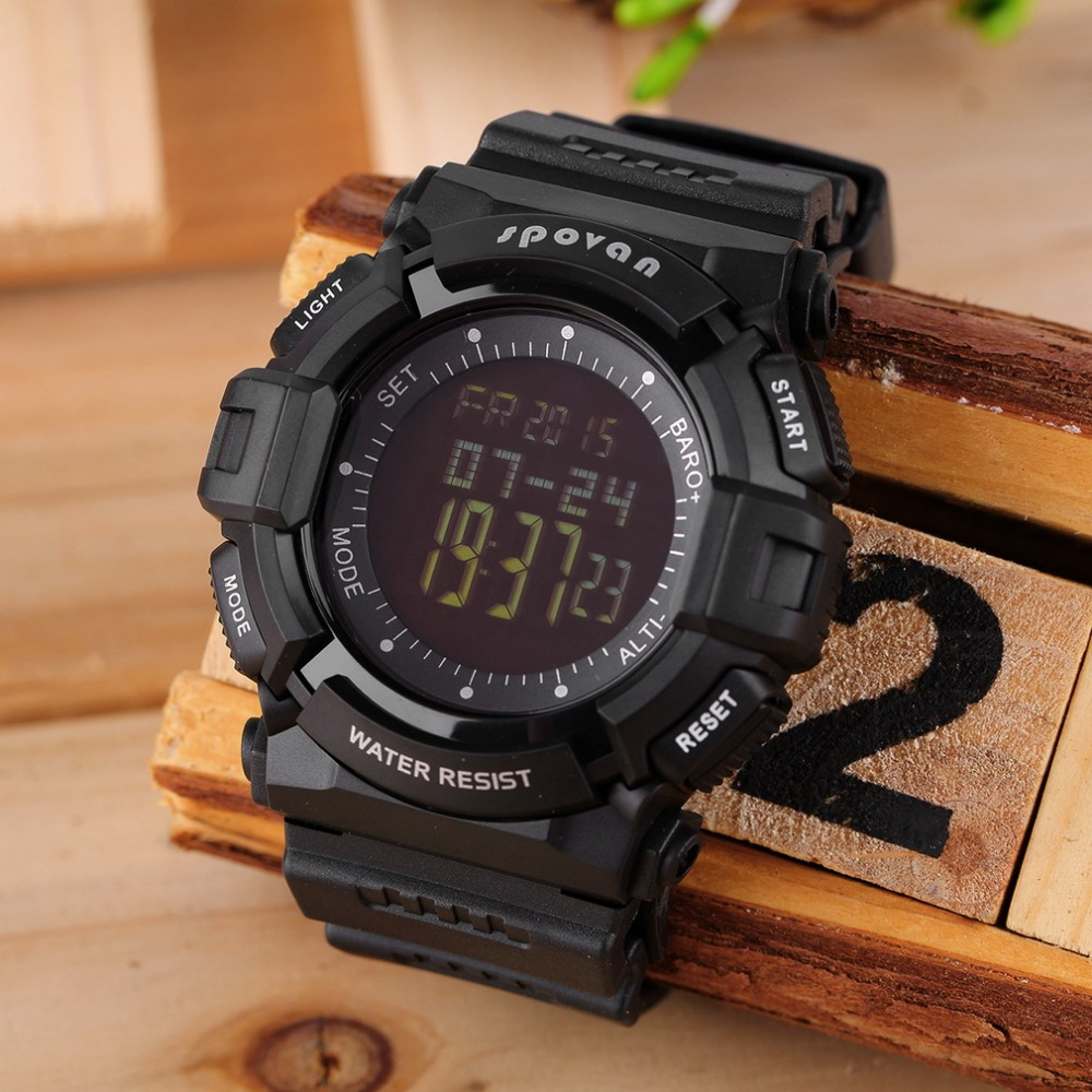 ФОТО 2016 Multifunction Men Sports Watches Outdoor Climbing Compass Altimeter Thermometer Weather Forecast Watch Free shipping