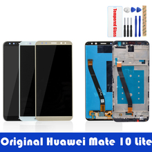 Original Screen For Huawei Mate 10 Lite LCD Display + Frame 10 Touch Panel LCD Digitizer Assembly Replacement Spare Parts
