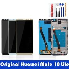 Orijinal ekran Huawei Mate 10 Lite için LCD ekran + çerçeve 10 dokunmatik Panel LCD Digitizer meclisi yedek yedek parçalar