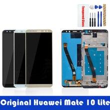 Schermo originale Per Huawei Mate 10 Lite Display LCD + Frame 10 Touch Screen del Pannello LCD Digitizer Assembly di Ricambio pezzi di Ricambio