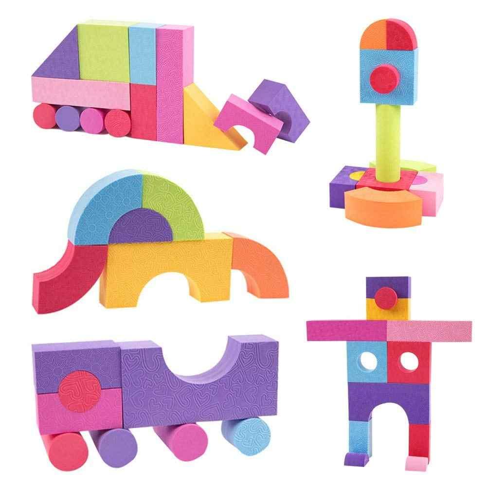 50Pcs EVA Foam Assembled Bricks DIY Model Building Blocks Kids Educational Toys