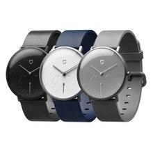 Смарт часы Xiaomi Mijia Quartz, водонепроницаемые умные часы с корпусом из нержавеющей стали, 3ATM, шагомер, умная вибрация