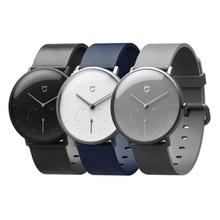 Xiaomi Mijia kuvars Smartwatch 3ATM su geçirmez pedometre paslanmaz çelik kasa akıllı titreşim su geçirmez izle hediye