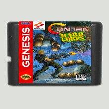 كونترا الصلب فيلق 16 بت سيجا MD بطاقة الألعاب لsega نشأة فقط