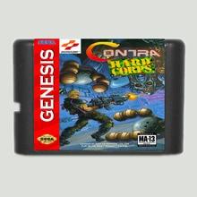 Contra sert kolordu 16 bit SEGA MD oyun kartı Sega Genesis için sadece