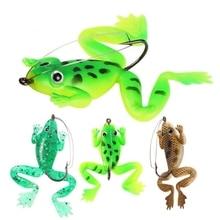 1 шт./лот, 6 см/5,2 г, рыболовная приманка Pesca, искусственная силиконовая приманка для рыбалки, приманка-лягушка с крючком, мягкие рыболовные приманки-лягушки, рыболовные снасти