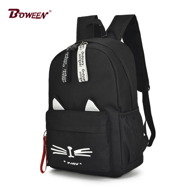 Casual cartoon girl backpack schoolbag for teenage women back pack nylon solid school backpack famale teen bagpack 2018 new hot Mercedes-Benz A-класс